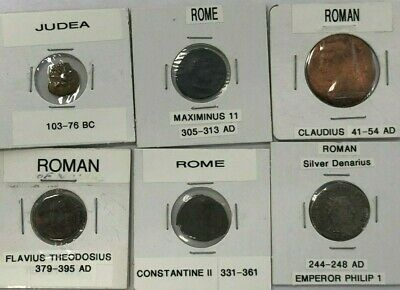 Lot Of 6 Ancient Roman Coins