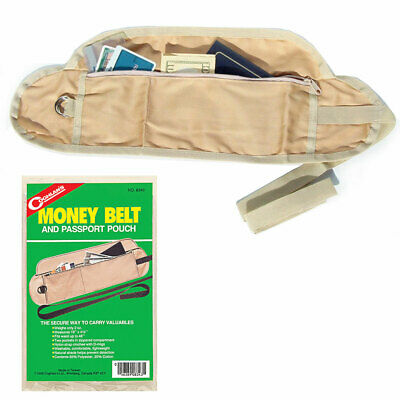 Money Belt Passport Holder Secure Hidden Travel Wallet RFID Blocking