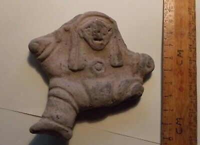 Pre -Columbian Pottery Figure From A Pot