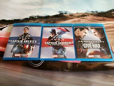 Captain America 1 2 3 Trilogy Blu-Ray Combo New & Sealed