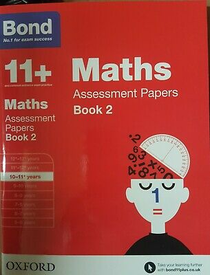 Bond 11 plus 10-11+ Assessment Papers Maths Book2 and English Book2