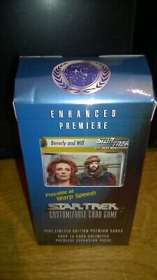 Star Trek  CCG's Enhanced Premiere Beverly & Will Trading Cards Deck
