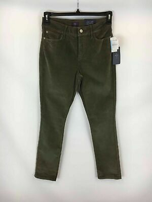 NYDJ Women's Earth Green Corduroy Legging Pants Slacks Size 8