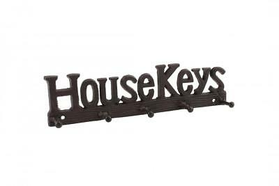 Cast Iron House Keys Five Hooks Key Rack - Key Holder Home Vintage Rustic Decor