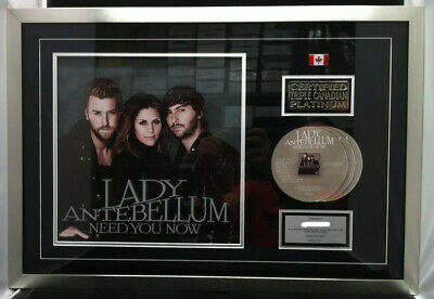 LADY ANTEBELLUM Need You Now 2010 Canada In-House Platinum CD Award Plaque