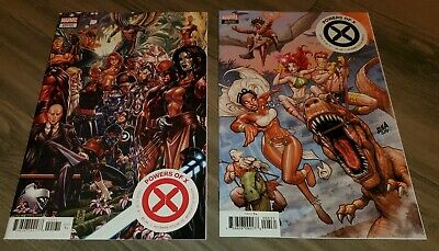 Powers OF X 1 & 5 Mark Brooks Connecting 2 Cover Variants Xmen Marvel Key Comic