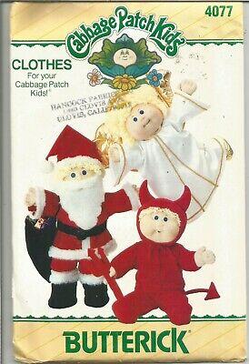 *Vintage Cabbage Patch Doll costume Pattern Butterick 6826, UnCut,Santa, Angel,+