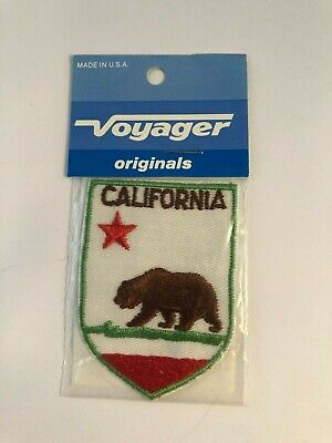 Vintage Voyager Brand California State Bear Themed Embroidered Patch