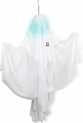 Halloween Haunters 5 Foot Animated Hanging Spinning Scary All White Ghost Prop