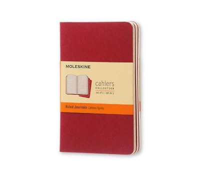 Moleskine (Cor)-Moleskine Cahiers Ruled, Red Cover BOOK NEW