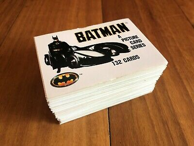 Batman a picture card series, 132 cards, full set, TM & DC Comics Inc. 1989.