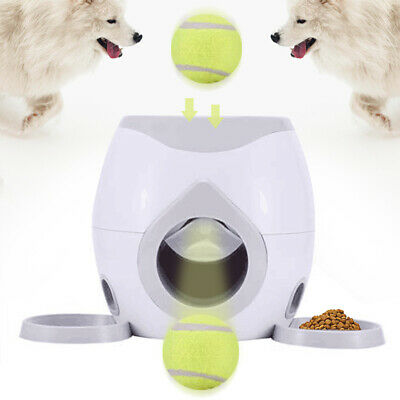 Auto Pet Dog Launcher Tennis Ball Toy Fetch Thrower Roller Hyper Training Game