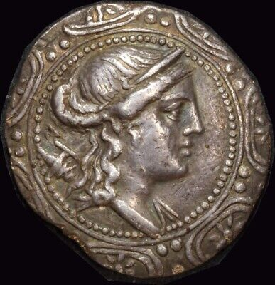Ancient Greece (Thrace / Amphipolis)  158~149 BC Silver Tetradrachm S# 1386 good