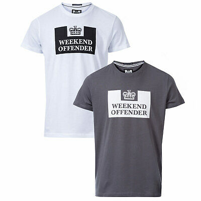 Weekend Offender Lot de 2 t-shirts Siegel Gris Blanc Homme