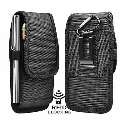 Holster For iPhone 11 Pro Max XS XR,6/7/8 Plus Belt Clip Pouch Nylon Wallet Case