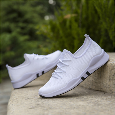 Up Gym Trainers Sport Running Pumps Mens Lace Mesh Size Shoes Sneakers TEENS
