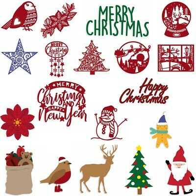 Merry Christmas Decoration Metal Cutting Dies Scrapbooking Stencil Embossing
