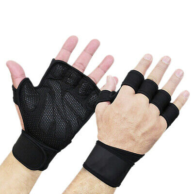 Cross Fit Leather Weight Lifting Gym Fitness Body Building Gloves Training S/M/L