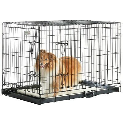 Milo & Misty Dog Pet Cage Crate Playpen Puppy Animal Home Folding 42in X-Large