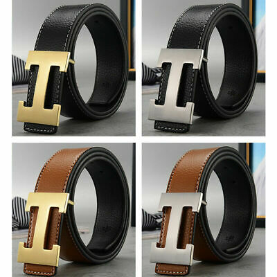 Hot Sale Mens Womens Buckle H Design Leather Belt Classic Stylish Gift Brand New