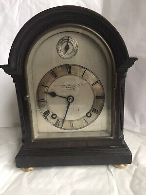 Goldsmiths & Silversmiths Co. Ltd - Small Antique Mahogany Bracket Clock, 8 day