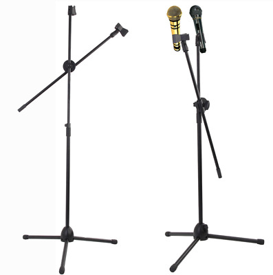 Adjustable Microphone Stand Professional Boom Arm Holder & Mic Clip Stage Party