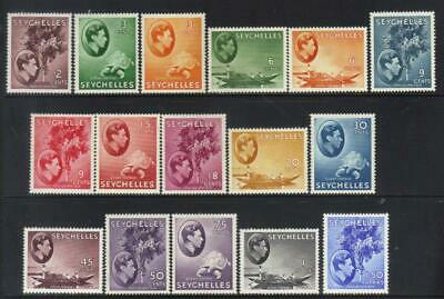 Seychelles 1938-1949 Defins 16 Mh Values Min Cat £112++