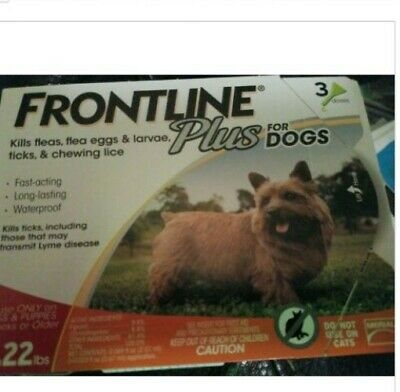 Frontline Plus for Dogs 0-22 lbs 3 Month Supply 3-Pack