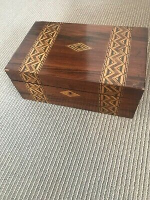 Antique Rosewood Sewing Box
