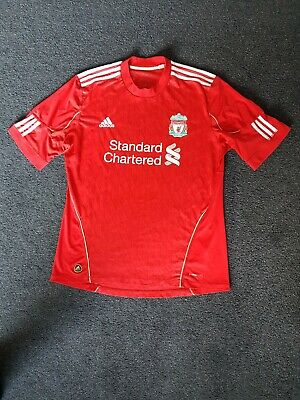 Liverpool Fc 2010-12 Home Shirt Size Large Adidas