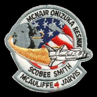 1986 NASA SPACE SHUTTLE CHALLENGER STS-51-L McAuliffe Embroidered Iron-on Patch