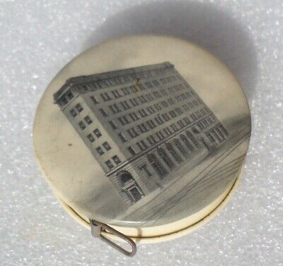 Vtg 2Nd National Bank Connellsville Pa Celluloid Sewing Advertising Tape Measure