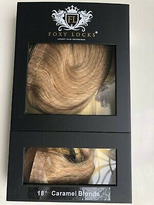 "Foxy Locks Genuine Seamless 18"" Hair Extensions - Dark Blonde"