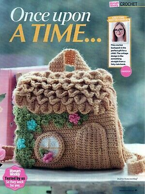 ~ Pull-Out Crochet Pattern For Child's Enchanted Cottage Backpack ~