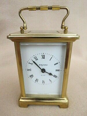 Vintage Bayard French 8 Day Brass Carriage Clock For Tlc