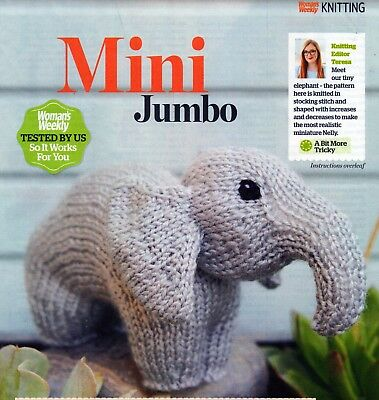~ Pull-Out Knitting Pattern For Delightful Little Toy Elephant ~