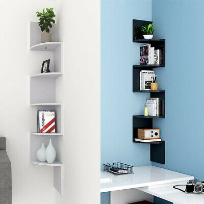 Floating Wall Shelves Corner Shelf Storage Display Bookcase Kids Room Tier Decor