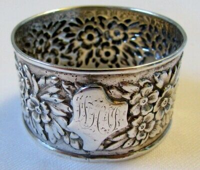 Antique Sterling Silver Repousse Napkin Ring Fuchs & Beiderhase