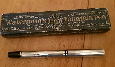 Vintage WATERMAN Fountain Pen - Gold Nib N2, Silver