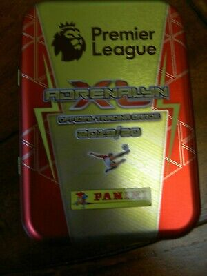 ADRENALYN XL PREMIER LEAGUE. TIN, 70 CARDS, 1 x LIMITED CARD & INVINCIBLE CARD.