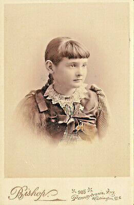 Lovely Young Girl With Long Braid And Bangs Lace Collar And Vest- Wash, Dc - Cc