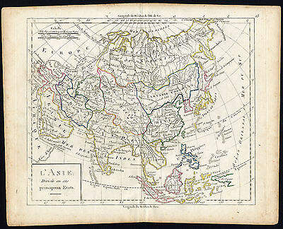 Antique Map-ASIA-Vaugondy-1785