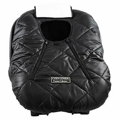 Cozy Cover Premium Infant Car Seat Cover (Black) with Polar Fleece - (Black)