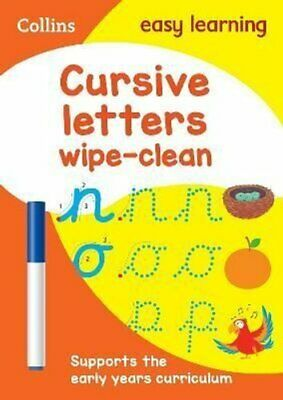 Cursive Letters Age 3-5 Wipe Clean Activity Book 9780008335830 | Brand New