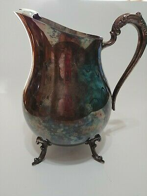FB Rogers Silver Footed Water Pitcher With Ice Lip