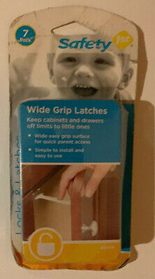 Child SAFETY 1ST  Wide Grip Latches For Cabinets And Drawers (7 Pack)