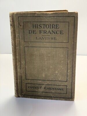 Vintage Book Historie of France Dated 1919 Historical Maps Pictures Decorative