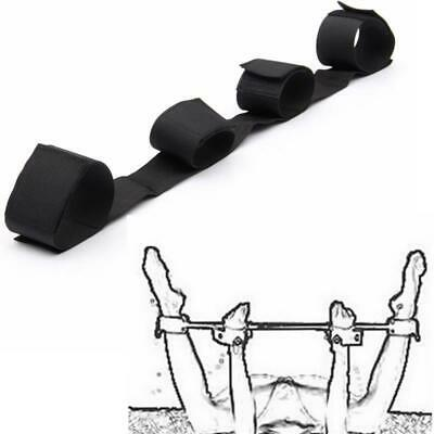 Spreader Bar with Love Wrist & Ankle Cuffs, Black Fun Toy On Bed SM Tools Party