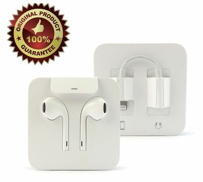 Apple Lightning Earpods with 3.5mm Headphone Adapter OEM Earbuds iPhone 7 8 8+ X