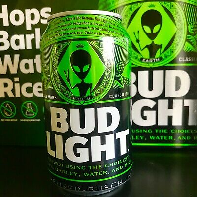 Bud Light Area 51 Green Alien Can - BRAND NEW - Very Limited Collectors Item